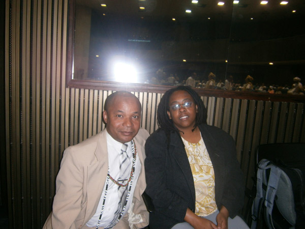Taata Kwa Nkisi Katuvanjesi  e Cidinha da Silva, Representante da Fundação Cultural Palmares em São Paulo