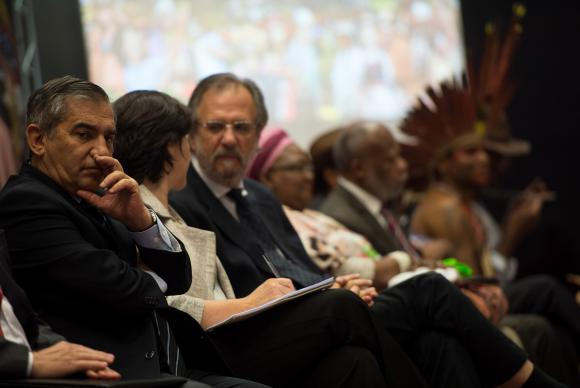 Os ministros Gilberto Carvalho,Tereza Campello e Miguel Rossetto participam do 2º Encontro Nacional de Povos e Comunidades Tradicionais - Foto: Marcelo Camargo/Agência Brasil